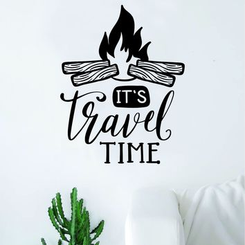 It's Travel Time Decal Sticker Wall Vinyl Art Wall Bedroom Room Home Decor Inspirational Teen Nursery Adventure
