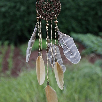 Coffee Dream Catcher Necklace