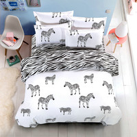 Hello kitty Black and White 4pcs Bedding Set Fashion Bed Sheet / Duvet Cover/Pillowcase Super King/ King/Queen/Full/Twin 5 Size
