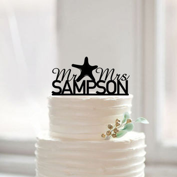 Starfish Wedding Cake Topper: SAVE $1 TODAY
