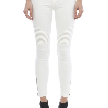 Moto Leggings - Off White