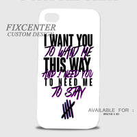 5 seconds of summer Lyric 3D Image Cases for iPhone 4/4S, iPhone 5/5S, iPhone 5C, iPhone 6, iPhone 6 Plus, iPod 4, iPod 5, Samsung Galaxy (S3, S4, S5, S6) by FixCenters