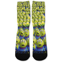 Toy Story Aliens Custom Athletic Fresh Socks