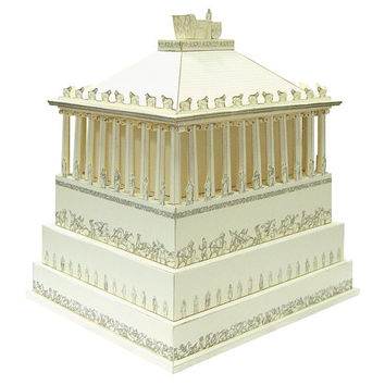 Mausoleum at Halicarnassus || Greek architecture sample || paper model kit || choose from two types and three colors