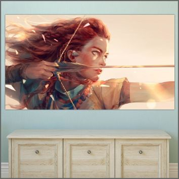 WLONG Large Size Oil Painting Archers Dawn Warriors Wall Art Canvas Prints Pictures For Living Room And Bedroom No Frames