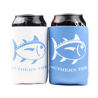 Reversible Gameday Can Caddie in Carolina Blue/White by Southern Tide