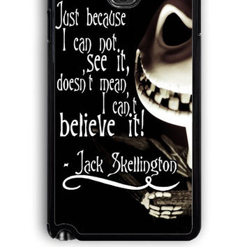 Samsung Galaxy Note 3 Case - Rubber (TPU) Cover with The Nightmare Before Christmas Quotes Jack Skellington Design