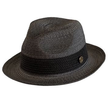 "Bruno Capelo ""Broadway"" Poly Straw Fedora"
