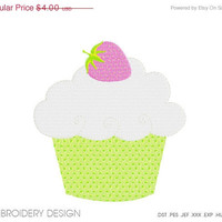 30% OFF SALE Cupcake Embroidery design instant download, machine embroidery, many size, many formats PGEMPK146