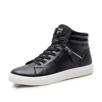 Fashion Vintage High Cut Shining Gothic Canvas Jogging Size 9.5 Casual Zipper Design Hip Hop Zapatos Walking Shoes High Top