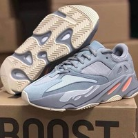 Adidas Yeezy 700 Runner Boost Fashion Vintage Sport Running Shoes Sneakers Grey
