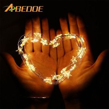 ICIKU7Q 2M/3M LED Star Copper Wire String Lights LED Fairy Lights Christmas Wedding decoration Lights Battery Operate twinkle lights