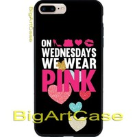 SAYS on Wednesdays We Wear Pink Pretty Girly Quotes Case Cover iPhone 7, 7 plus