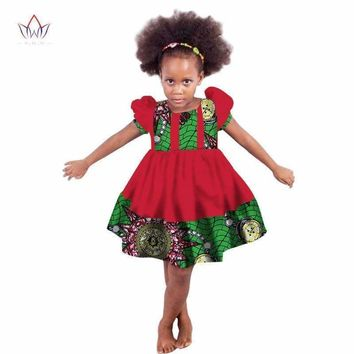 African girl Clothing kids dashiki Traditional cotton Dresses Matching  Africa 43