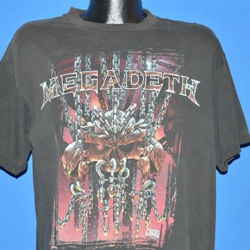 90s Megadeth World Tour 1998 Chaos Comics t-shirt Large