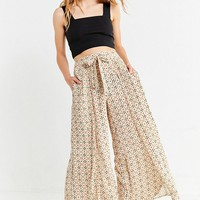 UO Tile Print Wide-Leg Pant | Urban Outfitters