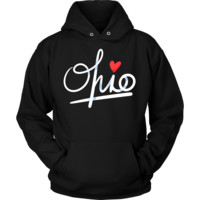State of Ohio, Love Ohio U.S.A Souvenir Travel Hoodie
