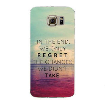 Samsung Galaxy S7 Edge Soft Silicon TPU City Ocean Beach Poetic Words Printed Case Back Cover