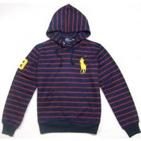 Beauty Ticks Ralph Lauren Polo Yellow Big Pony Stripe Men Sport Hoodies