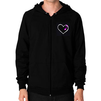 Unisex American Apparel Zip Hoodie, Black I&P