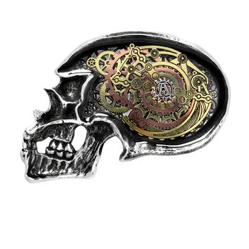 Alchemy Gothic Anima Machinato Futurus Skull Belt Buckle