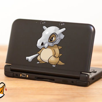 Cubone Pokemon decal sticker for Nintendo 3DS XL, 3DS, MacBook and all other devices! ma131
