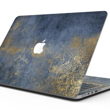 Navy Gold Foil v6 - MacBook Pro with Retina Display Full-Coverage Skin Kit