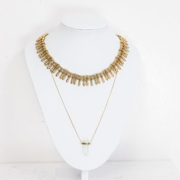 Double Time Layer Necklace