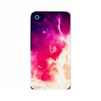Galaxy Pop Art Purple Space Case for iPhone 4/4s