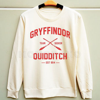 S M L -- Gryffindor Shirt Hogwarts Shirt Harry Potter Quidditch Sweatshirt Jumpers Long Sleeve Sweater Unisex Shirts Women Shirts Men Shirts