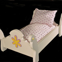 Doll Sleigh bed fits American girl doll 18 by Keatingwoodcraft