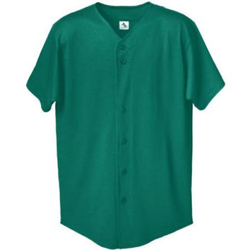 STYLE 670 BUTTON FRONT BASEBALL SHIRT (X-Large, Green)