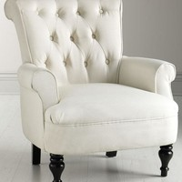 Morgan Tufted Armchair - Arm Chairs -  Living Room -  Furniture | HomeDecorators.com