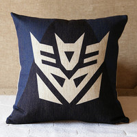 MEGATRON Decepticons STARSCREAM Transformers movies linen cushion pillow cover sofa bedroom sitting room adornment