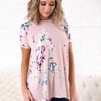 Calling Spring Floral Criss Cross Top (Pink)