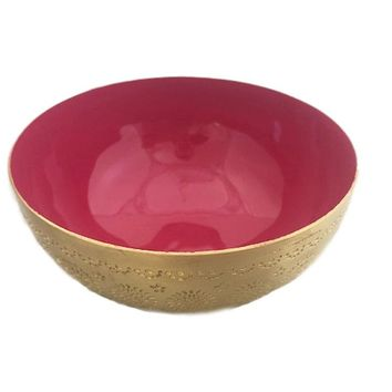 Colorful Brass Food Safe Bowl