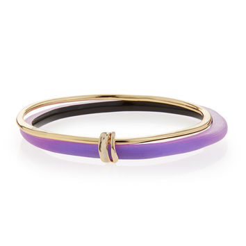 Lucite Liquid Paired Bangle, Magenta - Alexis Bittar