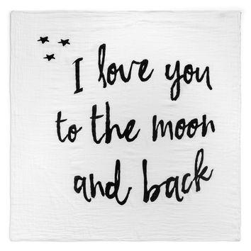 Modern Burlaps Love You To The Moon And Back Swaddle Blanket