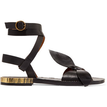 Chloé - Bow-detailed embellished leather sandals