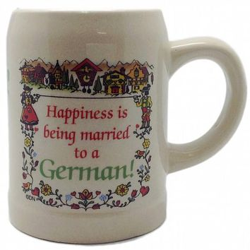 """German Coffee Cup: """"Happiness Married to German"""""""