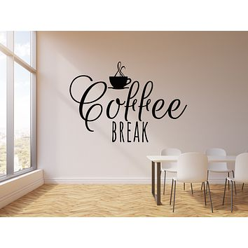 Vinyl Wall Decal Drink Coffee Break Room Cup Cafe Bar Kitchen Stickers Mural (g979)