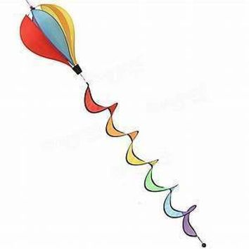 Windsock Balloon Rainbow 6 Pannels