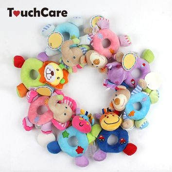Newborn Cute Cotton Baby Boy Girl Rattles Infant Animal Hand Bell Kids Plush Toy Development Gifts Rings Toddler Toys