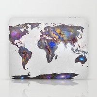 Stars world map Laptop & iPad Skin by Guido Montañés