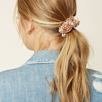 Metallic Rose Hair Tie