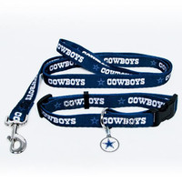 Dallas Cowboys NFL Dog Collar & Leash Set (Small)