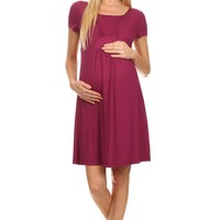 Eliza Short Sleeves Nursing Dress
