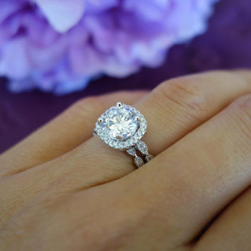 wedding engagement vintage halo style art sterling silver made bridal carat rose gold simulants media man rings diamond set ring deco