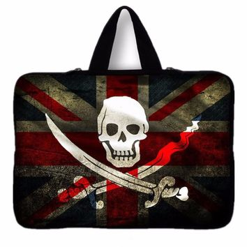 Waterproof Skull Notebook Laptop sleeve bag case Computer cover pouch For tablet PC 9.7'' 10 11.6 12 13 14 15 15.6 17 inch