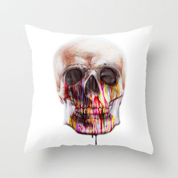 True Blood B Throw Pillow by beart24